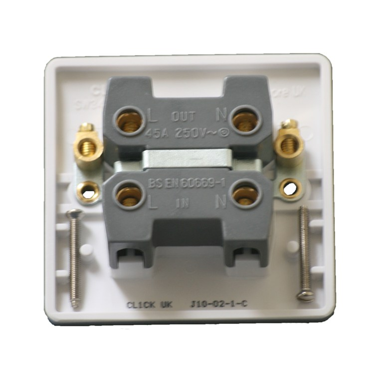 45 Amp DP Double Pole Switch Control Switch White
